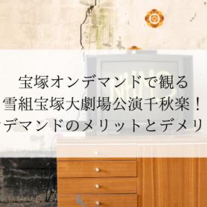 オンデマンドのメリットとデメリット・雪組宝塚大劇場公演千秋楽一部生配信!
