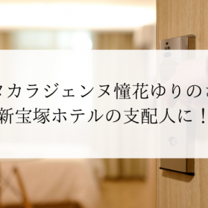 元タカラジェンヌ憧花ゆりのさん新宝塚ホテルの支配人に!