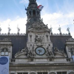 度肝を抜かれ、声を失う素晴らしさ、パリ市庁舎Hotel de ville Paris