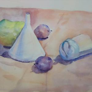 絵画教室にて