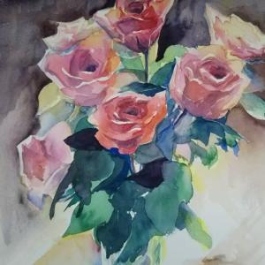 逆光の薔薇 修正