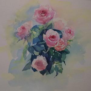 逆光の薔薇2仕上げ