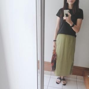 【titivate】流行色スカートとユニクロ神Tコーデと父の日