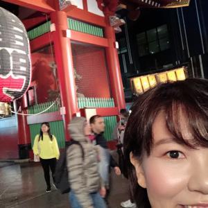 夜の浅草一人ツアー。浅草寺とかずさやさんと浅草演芸ホール