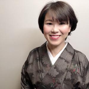 泥大島紬をスッキリと着こなす、をテーマに合わせてみた着物コーデ。