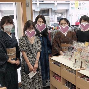 上布の見分け方、単発講座のご感想。大島紬と結城紬の単発講座の開催予定。