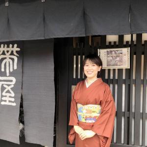帯屋捨松さんの展示会へ!捨松さんの帯が好きです!