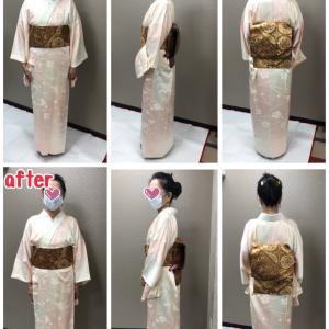 着物のための骨格診断と補整アドバイス、東京人形町会場でのモニター様のビフォーアフター!