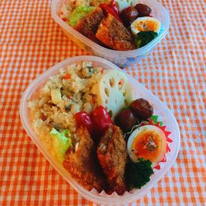 シーフードピラフと白身魚のフライ弁当。京都のお土産は?