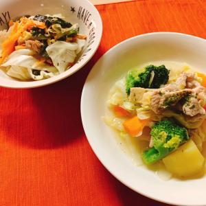 【ダイエットごはん】低カロリー☆野菜たっぷり豚肉ポトフ&ツナたまサラダ