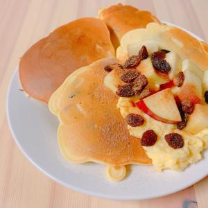 【ダイエットおやつ】デトックス&グルテンフリー☆りんごパンケーキ