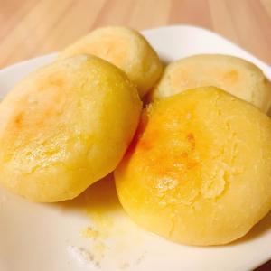 【フライパンおやつ】カリッともちもち♪米粉と豆腐の塩バターおやき