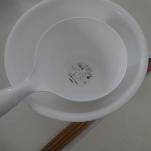 浴室|洗面器と手桶を新調しました