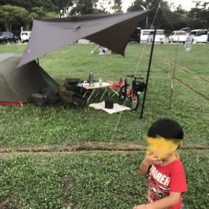 人生2回目の父子キャンプ(累計48泊)