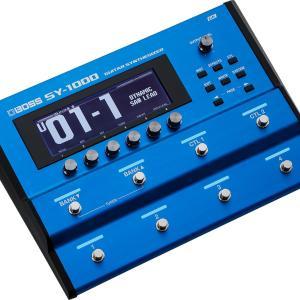 ボスから多機能ギターシンセ、「BOSS SY-1000 Guitar Synthesizer」発表!