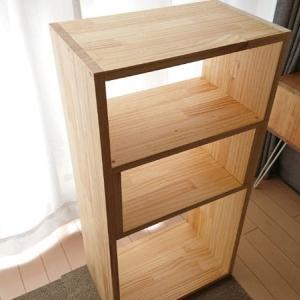 【DIY】無印スタッキングシェルフ風の棚を手作りするよ。2段式で寝室収納に