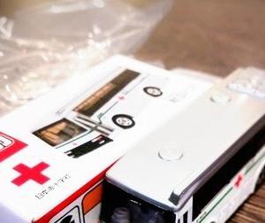 非売品のトミカ献血バスあたる
