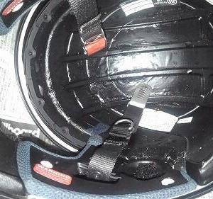 ヘルメットの内装交換