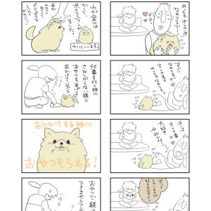 【四コマ漫画】今回は愛犬の事を描きました♪