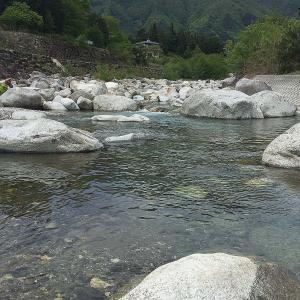 太田切川での釣り