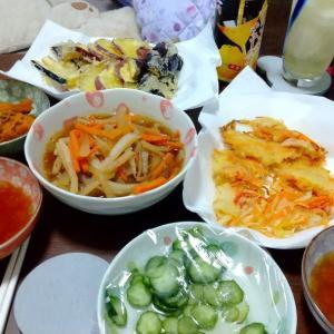 昨日と今日の夕食