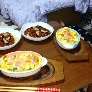 今日も主人の手作り夕食
