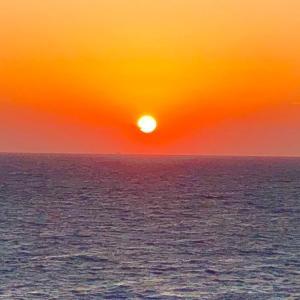 御前崎の夕陽