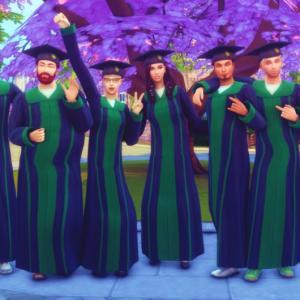 【シムズ4】正気じゃないオタクの大学卒業式