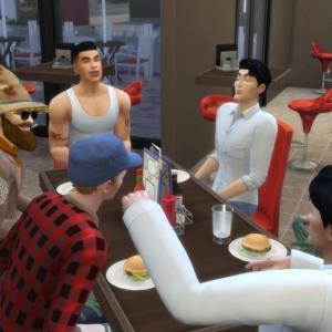 【シムズ4】全員でマクドナルドへ行くの楽しすぎワロタ