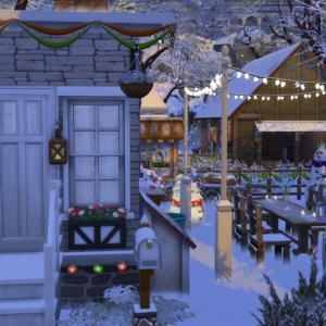 【シムズ4】牧場で気合十分なクリスマスパーリィナイッ