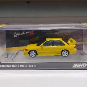 INNO Models 1/64 三菱 ランサーエボリューションⅢ イエロー