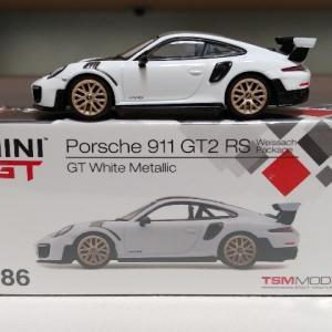 TSM MINI GT ポルシェ 911 GT2 RS ヴァイザッハパッケージ GTホワイトメタリック