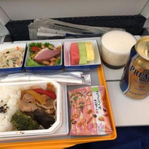 【機内食はイマイチ】ANA NH852便 台北松山-羽田 エコノミークラス搭乗記