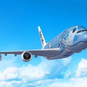 ANAがエアバスA380型機「ANA FLYING HONU」のチャーターフライトを実施
