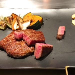 帝国ホテルの鉄板焼レストラン「嘉門」でアワビとステーキで満腹に