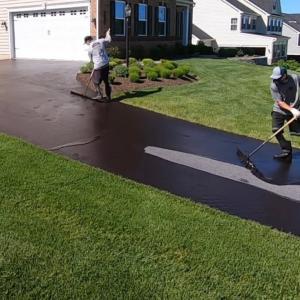駐車場の塗装コーティングの達人の作業が芸術的で癒やされる!!