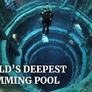 「沈没した街」をイメージした、ドバイに作られた世界一深いプールが神秘的!!
