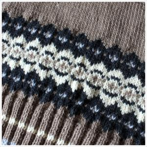【編み込み模様のベスト】後身頃の脇下まで編めました
