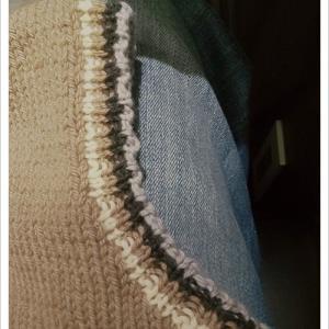 【編み込みベスト】完成!&2目ゴム編みについて追加