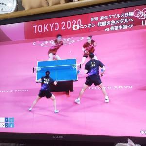 今日もオリンピックを見ています!
