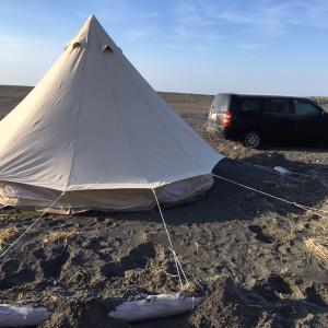 苫小牧、冬キャンプ