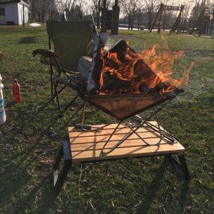 オープン前の無料キャンプ場でデイキャンプ?