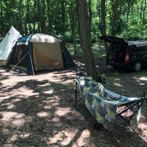 厚真野営場でのキャンプ