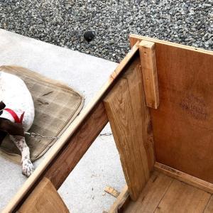 ベルの犬小屋補修。