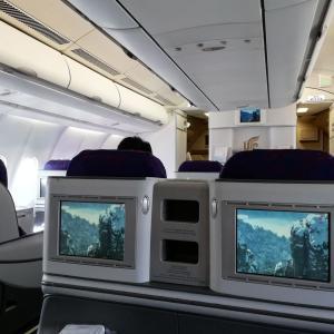 エア・チャイナ ビジネスクラス ヒースロー→北京 CA788【1stロンドン旅行 48】