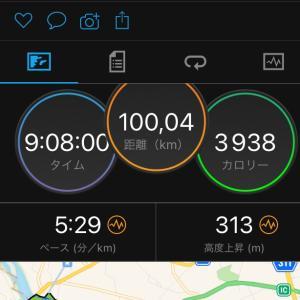 一人100キロで9:08