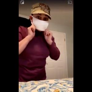 【手作りマスク】これが一番簡単かも?靴下で作るマスク。(コロナウイルス感染防止対策)