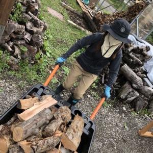 PLOW薪カート大活躍!!~お庭の整備と新薪棚の建設計画~