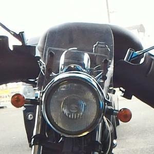 バイクの防風