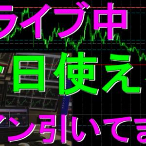 ドル円大暴落 FX 強制ロスカット その次の日の相場は? バイナリーオプション 無敵のライントレード ライブ Live 今日使えるライン引いてます。